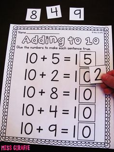 Awesome resources and ideas for adding to 10, making a 10 to add, and much more!
