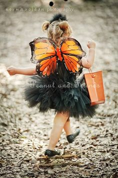 Orange Monarch Butterfly Wings   Perfect for by PeanutandFriends, $15.99