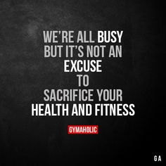 Stop making excuses, if you don't make time to look after your health and fitness, you will be forced to make time for illness. Fit Girl Motivation, Fitness Motivation Quotes, Weight Loss Motivation, Motivational Quotes, Inspirational Quotes, Motivational Leadership, Gym Quote, Fitness Inspiration, Health Fitness
