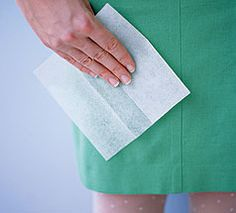 The many uses for Dryer sheets!  This includes my favorite, mosquito repellant!