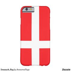 Denmark, flag barely there iPhone 6 case