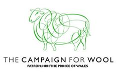 logo for the Campaign for Wool...generated by HRH the Prince of Wales. The USA is celebrating its first ever Wool Week from Sept. 24-30. Buy some wool! Play! Dye! Sew! Hook a rug!
