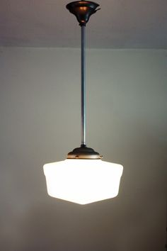 Art deco hanglamp / Art deco ceiling lamp [verkocht] | Verkocht / Sold | retrointerieur
