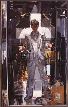 Self-Portrait with a Jesus for Our Time 1986 72 x 45 inches Oil on Canvas / Jerome Witkin : Painting Perceptions Selfies, Jesus Pictures, Great Paintings, Painting Gallery, Portrait Art, Portraits, Matte Painting, Realism Art, Art Sketchbook