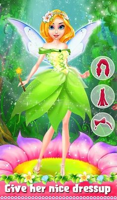 #Fairy had invite you for #party & help her to do all preparation like gorgeous #dress, decorating tree & much more.