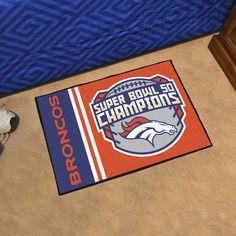 "Denver Broncos NFL Super Bowl ""Starter"" Uniform Inspired Floor Mat (20""x30"")"