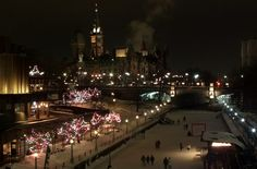 Capital Hill at night - Winterlude - Ottawa - cold smoke canal ottawa ice skating Canada Travel, Us Travel, Outdoor Ice Skating, Ottawa Canada, Ice Sculptures, Photo Essay, City Lights, Color Inspiration, Ontario