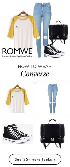 """Untitled #3250"" by fashion-nova on Polyvore featuring Topshop and Converse"