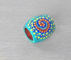 Colorful Teal #Dreadlock #Bead Spiral Dread Bead  by OneUrbanTribe, $10.00
