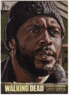 CRYPTOZOIC THE WALKING DEAD SEASON 3 SKETCH CARD TYREESE AP LEE LIGHTFOOT