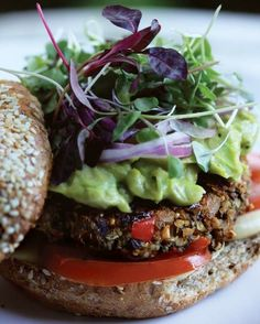 Black Bean-Hemp Superfood Patties via Julie Morris