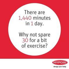 Antrenamentul HYPOXI dureaza 30 de minute. 30 de minute in care circulatia sangelui iti este imbunatatita, grasimile sunt topite, corpul tonifiat si starea de spirit considerabil imbunatatita. Iar tu nu trebuie sa faci aproape nimic! #Hypoxi #HealthySkin