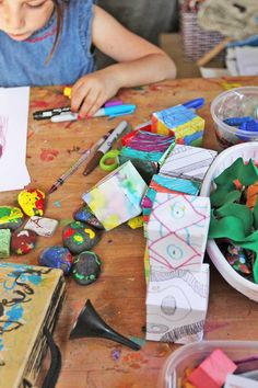 Tour our home art studio and get ideas for creating an art room for kids.