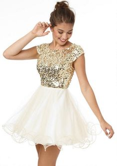 Cap Sleeve Sequin and Tulle Dress, a possible for New Year's Eve, even if it is from Delia's...