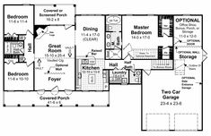 This Farmhouse House Plan includes 3 bedrooms / 2.5 baths in 1852 sq ft of living space.  Its open floorplan layout is flexible and is ideal for your growing family.  Best of all, its designed to be affordable to build and includes all of the most popular features you're looking for in your next home design.    #houseplan #dreamhome #HPG-1848 #HousePlanGallery #houseplans #homeplans Home Office Design, House Design, Brick Siding, Slab Foundation, Electrical Plan, Gas Fireplace Logs, Residential Construction, Jetted Tub, Bonus Rooms