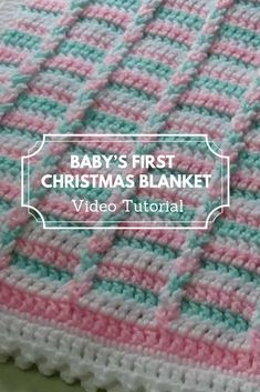26 Ideas Crochet Baby Wrap Blanket Stitches For 2019 Crochet Baby Blanket Tutorial, Crochet Blanket Border, Christmas Crochet Blanket, Christmas Afghan, Blanket Stitch, Christmas Knitting, Crochet Blanket Patterns, Crochet Afghans, Christmas Baby
