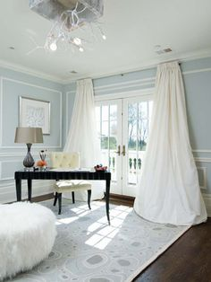 I love the idea of colored walls and white linens for the master bedroom.