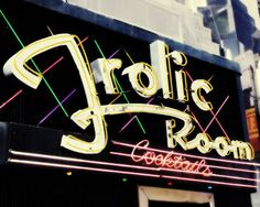 Fine Art Photography Frolic Room Bar Cocktails Hollywood Neon Vintage Sign