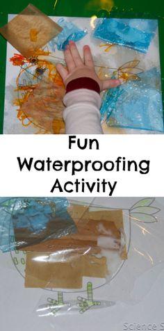 Fun waterproofing activity, great for preschoolers. #Science