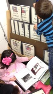 children checking out their own documentation journals from http://myclassroomtransformation.blogspot.com