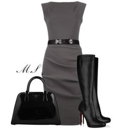 I have a dress very similar to this (minus the belt) that I love! Love the idea of pairing it with boots!