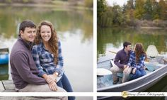 Indianapolis engagement portrait photographer | Couple in boat at dock | (c) Brittany Erwin Photography