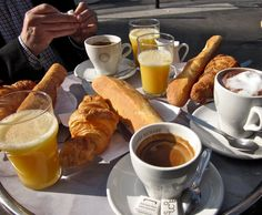 Perfect Paris breakfast.....Directions>>>  book a flight! <3