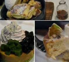 Delicious french toast and Japanese style pancake from Miam Miam Singapore!