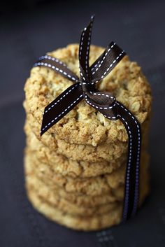 Crisp, classic, delicious Anzac Cookies.  - The most simple and common of Anzac day foods. It has oats and coconut, two prominent Anzac day ingredients.