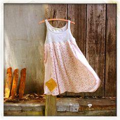 upcycled S M L mori girl Tunic babydoll Dress by novelatelier