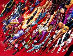 The Legion of Super-Heroes are a team of teen-age super-heroes in the and centuries of the DC Universe who were inspired by the adventures of Superboy/Clark Kent/Kal-El (Pre-Crisis). Cosmic Boy, Lightning Lad and Saturn Girl are the founding members. Marvel Vs, Marvel Dc Comics, Teen Titans, Chris Evans, Saturn Girl, Cosmic Boy, Timberwolf, Geoff Johns, Legion Of Superheroes