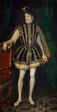 Noblemen and noblewomen wore hose. Wool was the most common hose fabric, but the very rich might have silken hose.