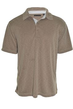 age of wisdom Mens Polo Shirt Short Sleeve Brown Large Modal Wrinkle Free NEW #ageofwisdom #PoloRugby