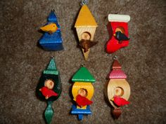 Whimsical Miniature Birdhouses by dreamwvr81 on Etsy, $12.75