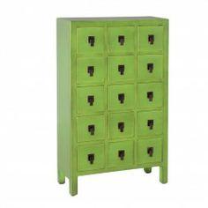 Aparador Cajonera Verde Mueble Chino #Muebles #chinos y #orientales en nuryba.com tu #tienda #online de #decoracion de #interiores en #Madrid