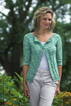 Ravelry: Woman's Top Down Cardigan pattern by Vanessa Ewing