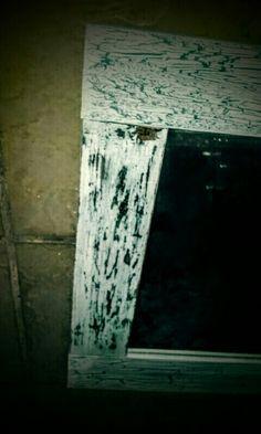 Espejo vintage craquelado decapado