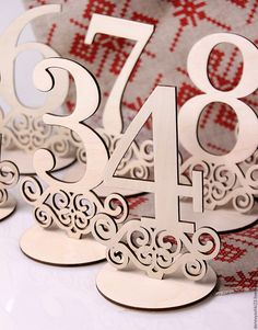 Very nice idea! Laser cut Table Numbers