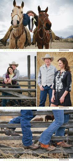 Kim and Randy's very western, very Montana engagement session. www.kristinepaulsen.com