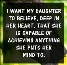 Strong girls are what I raise!