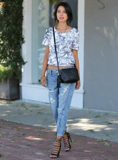 Street Style Look | Ripped Jeans | Gucci Bag #outfit