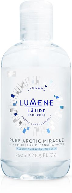 Buy from Ulta.com: Lumene Lahde Micellar Cleansing Water naturally clears away the day, that's the purpose of this micellar cleansing water. Native Cloudberry Water and pure Arctic Spring Water combine with the micellar structure to gently remove face, eye and lip make-up with stand-out cleansing. Nourishing Birch Sap naturally moisturizes and rebalances skin after long days. Skin is left clarified and appears beautifully hydrated. Get back to nature to reveal your true radiance.
