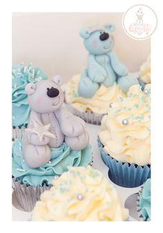 Fondant teddy bears Christening Cupcakes
