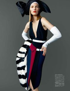 visual optimism; fashion editorials, shows, campaigns & more!: asymmetry obsession: suvi koponen by mario testino for vogue japan november 2014