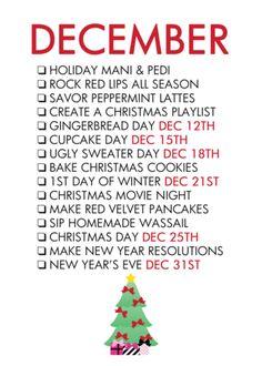 December Life List – The Glam Shop