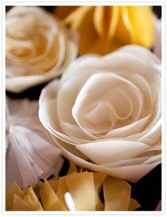 DIY Tutorial: flowers / DIY tulle flowers - Bead&Cord