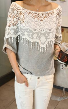 summer outfits...take any color T-shirt and a thrift store curtain and sew....