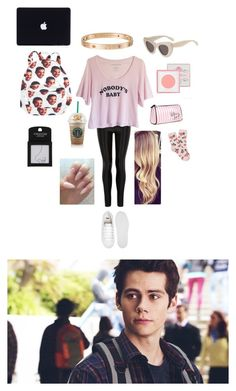 """""""School"""" by c-ookie ❤ liked on Polyvore featuring Victoria's Secret, Primp, Cartier, ASOS, Forever 21 and Topshop"""