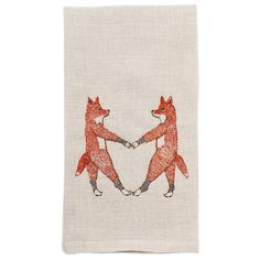 Coral and Tusk - fox love tea towel