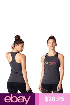 Donna STRONG by Zumba Womens High Neck Workout Fashion Design Tank Top
